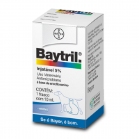 Baytril Flavour 5% Injetável com 10ml